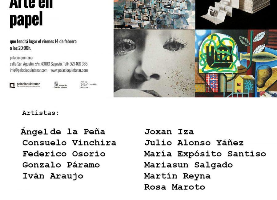 Exposición Colectiva ARTE EN PAPEL en el Palacio Quintanar